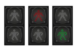 traffic light for pedestrians vector illustration