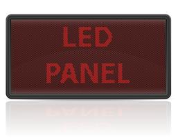 led panel digital scoreboard vector illustration