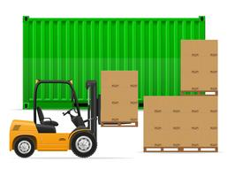 freight transportation concept vector illustration