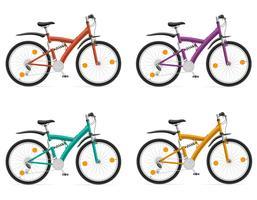 bici sportive con l'illustrazione di vettore dell'ammortizzatore posteriore