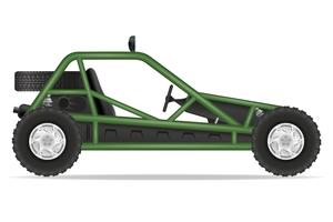 VTT voiture buggy hors routes vector illustration