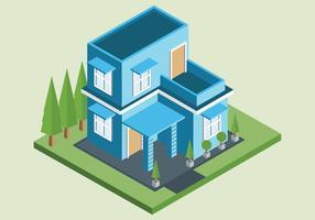 Vettore di casa isometrica