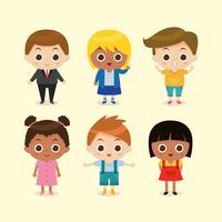 Conjunto de caracteres de los niños vector