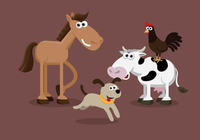 Farm Animal Set vector