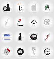 car equipment flat icons vector illustration