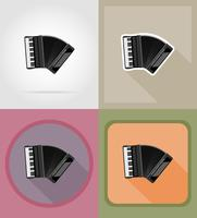 accordeon plat pictogrammen vector illustratie