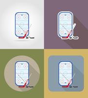 hockey stadium flat icons vector illustration