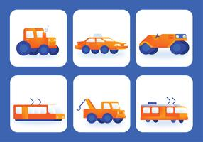 Transporte Clipart Vector Pack