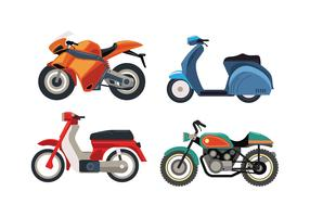 Motor Bike Vehicle Set