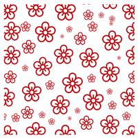Red Flower Pattern Design