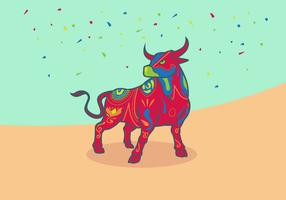 Bumba Meu Boi Bulls Vector Illustration