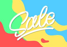 Hand Lettering Sale Typography Vector