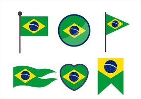 Brazil Flag Clipart Set