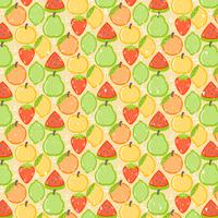 Vector Seamless Colorful Fruit Pattern