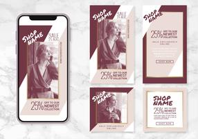 Vector Instagram Stories and Posts Templates