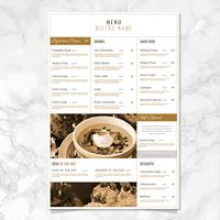 Vector Bistro Menu Template