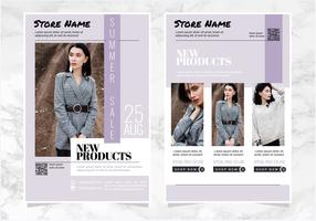 Vector Purple Fashion Flyers Templates