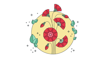 Vetor de design floral