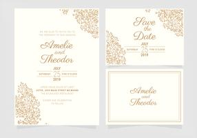 Vector Elegant Wedding Invitation Template