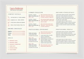 Vector Landscape Resume Template