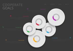 Infografía de objetivos corporativos. Equipo de trabajo de infografía.