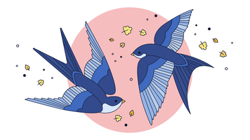 Swallow Dance Vector