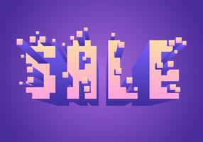 Exploderende Pixels Verkoop Typografie Vector