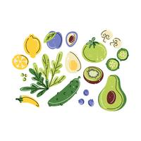 Illustration de vecteur d'aliments sains