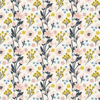 Vector Hand Drawn Floral Pattern