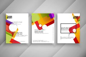 Abstract colorful Business brochure template design set vector