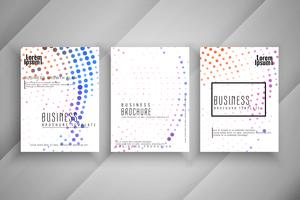 Abstract colorful halftone Business brochure set