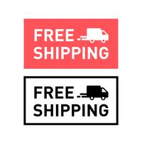 Free shipping. Badge with truck icon.