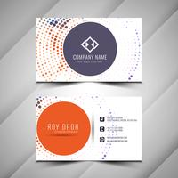 Abstract elegant Business card halftone design