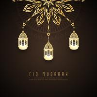 Abstract Eid Mubarak stylish background design