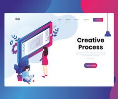Isometric Artwork Concept of Creative Process