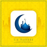 Abstract religious Eid Mubarak stylish background design