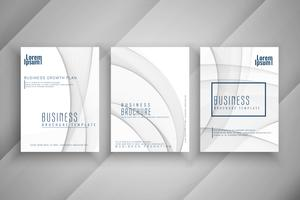 Abstract wavy Business brochure template design set
