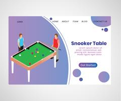 Isometric Artwork Concept of Snooker table