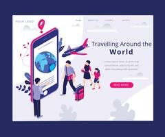 Isometric Artwork Concept of Travel
