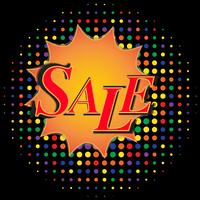 Sale banner with comic text effects