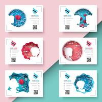 Pretty paper girl - business template.