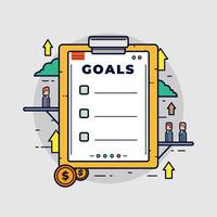 Zakelijke doelen Vector