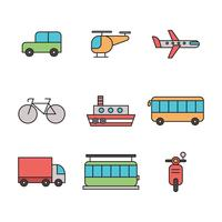 Outlined Transportation Icons