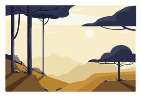 Illustration de paysage vecteur