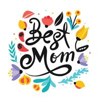 """Best Mom"" Typografi Vector Design"
