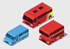 Public Transportaion Isometric Set Vector