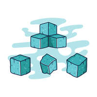 Eiswürfel-Vektor