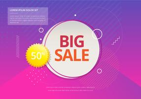Sale Typography Modern Stylish Illustration