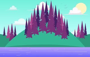 Illustrazione di paesaggio vettoriale