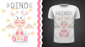 Funny dino - idea for print t-shirt vector